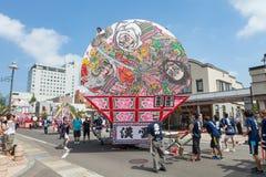 Festival de Hirosaki Neputa (flutuador em forma de leque) em Japão fotografia de stock royalty free