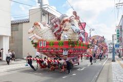 Festival de Hirosaki Neputa (flutuador em forma de leque) em Japão fotografia de stock