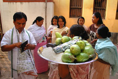 Festival de Holi aux gens de Manipuri Photos libres de droits