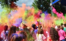 Festival de Holi de colores fotos de archivo