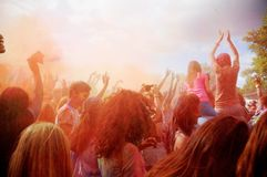 Festival de Holi de colores Explosión del color del festival de Holi fotografía de archivo