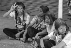 Festival de Holi dans le pokhara photos stock