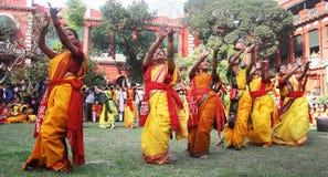 Festival de Holi de Bengala del oeste la India imagen de archivo libre de regalías