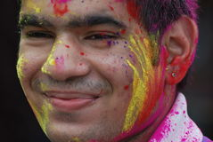 festival de holi de coliur Photo libre de droits