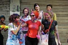 Festival de Holi de colores fotos de archivo libres de regalías