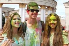 Festival de Holi de colores imagen de archivo libre de regalías