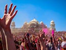 Festival de Holi de colores Foto de archivo libre de regalías
