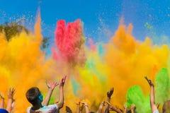 Festival de Holi de couleur Photographie stock
