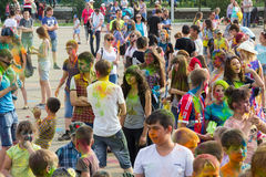 Festival de Holi de couleurs peintures Photo stock