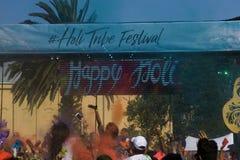 Festival de Holi del color en Melbourne, St Kilda fotografía de archivo