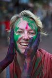 Festival de Holi en Inde Images libres de droits