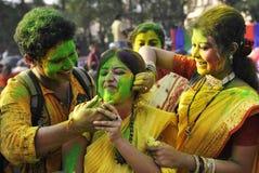 Festival de Holi en Inde Images stock