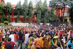 Festival de Holi en Inde Photo libre de droits