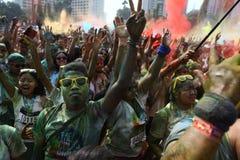 Festival de Holi en Indonesia Fotografía de archivo libre de regalías