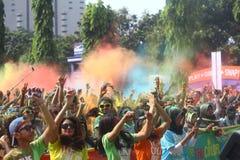 Festival de Holi en Indonesia Imagen de archivo