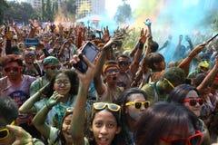 Festival de Holi en Indonesia Imagen de archivo libre de regalías