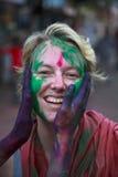 Festival de Holi en la India Imágenes de archivo libres de regalías