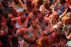 Festival de Holi en la India imagenes de archivo