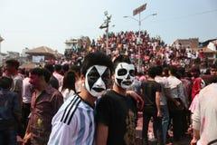 Festival de Holi en Nepal Foto de archivo libre de regalías
