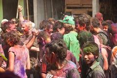 Festival de Holi (festival das cores) em Nepal Imagem de Stock