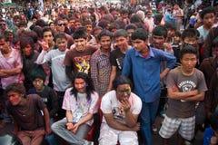 Festival de Holi (festival de colores) en Nepal Imagen de archivo