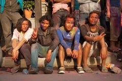 Festival de Holi (festival de colores) en Nepal Imágenes de archivo libres de regalías