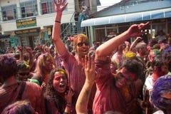 Festival de Holi (festival de couleurs) au Népal Image libre de droits