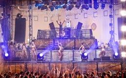 Festival de Ibiza de la amnesia de la fiebre del oro en Moscú Imágenes de archivo libres de regalías