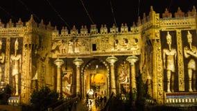 Festival de Jérusalem de lumière - porte de Damas photos libres de droits