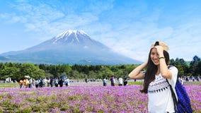 Festival de Japón Shibazakura con el campo del musgo rosado de Sakura fotos de archivo libres de regalías
