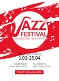 Festival de jazz musical del aviador del vector Bandera del festival del fondo del cartel de la música o plantilla del aviador Foto de archivo libre de regalías