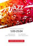 Festival de jazz musical do inseto do vetor Molde do inseto do folheto do festival do fundo do cartaz da música ilustração royalty free