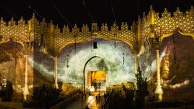 Festival de Jerusalén de la luz - puerta de Damasco Foto de archivo libre de regalías