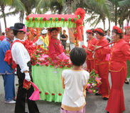 Festival de jour de poursuite dans hainan, porcelaine Photo stock