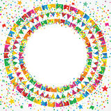 Festival de junho em um fundo colorido Imagens de Stock