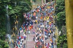 Festival de Kavadi en cavernes de Batu Seigneur, cortège photos stock