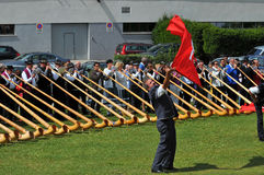Festival de klaxon alpestre Image stock