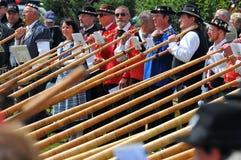 Festival de klaxon alpestre Photographie stock libre de droits