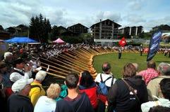 Festival de klaxon alpestre Photographie stock