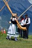 Festival de klaxon alpestre Photo libre de droits