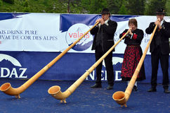 Festival de klaxon alpestre Photo stock