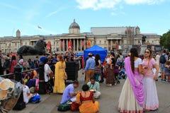 Festival de Krishna en el cuadrado de Trafalgar Londres Foto de archivo libre de regalías