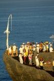Festival de Kuningan, Bali Indonésia imagem de stock