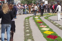 Festival de la antorcha de la flor Foto de archivo