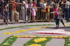 Festival de la antorcha de la flor Fotos de archivo libres de regalías