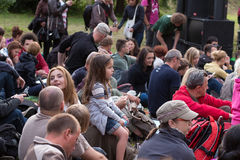 Festival 2013 de la calle del queso Feta de Gdansk. Fotos de archivo libres de regalías