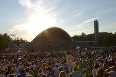 Festival 2014 de la canción de Laulupidu Foto de archivo libre de regalías