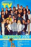 Festival de la canción italiana 2009 Imagen de archivo libre de regalías