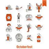 Festival de la cerveza de Oktoberfest Ilustración de color Imagen de archivo