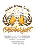 Festival de la cerveza de Oktoberfest Ilustración de color stock de ilustración